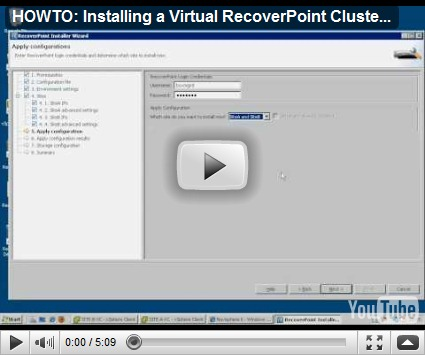 RecoverPoint as a Virtual Appliance (vRPA) - Virtual Geek